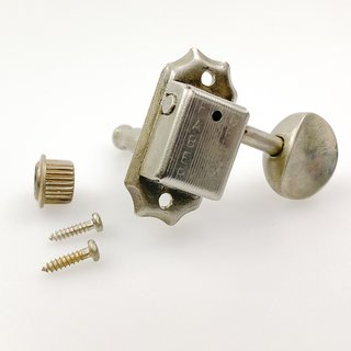 FKT33SBR-NA        	Faber Kluson style tuners, 50 round knob, 3+3, separate bushing, nickel aged