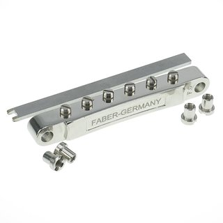 HYBRIDge-L-NG        ABRL Bridge, pat. pend. Locking System, Gloss Nickel, TITANIUM/Brass saddles