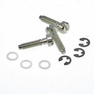 SS-NG (3pcs.) 	Faber® Saddles Replacement screw, Brass, nickel plated, glossy