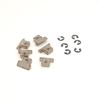 RS-NAU, Saddle Brass, nickel plated, aged, un-notched (6 pcs.)