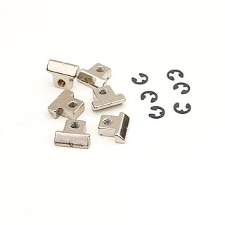 RS-NG, Saddle Brass, nickel plated, glossy, pre-slotted (6 pcs.)