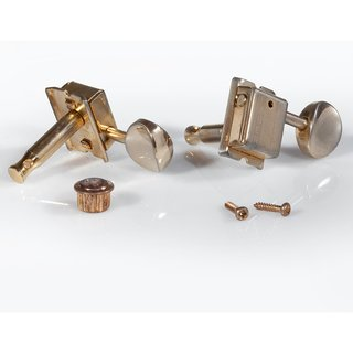 FKT6L-GA        	Faber Kluson style tuners, 6 in line, separate bushing, gold aged