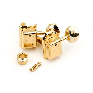 FKT6L-GG        	Faber Kluson style tuners, 6 in line, separate bushing, gold glossy