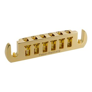 WRAPT-GG, Faber Wraptonate, Intonable Stoptail Bridge, Gold Gloss